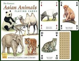 Asian Animals set of 52 playing cards (+ jokers)    (hpc)